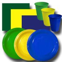 "Partygeschirrset ""grün-gelb-blau"" BASIC"