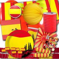 Partyset Spanien XXL mit Partydekoration und...