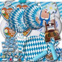 Oktoberfest Deko Set mit Partygeschirr und Partydeko im...