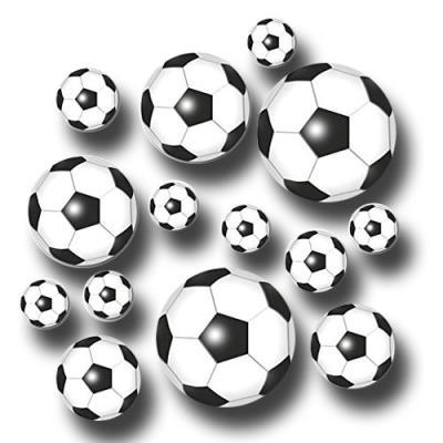 Riesenkonfetti Motive für eine sportliche Fußball Mottoparty