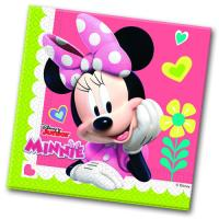 Papierservietten mit bunten Minnie Mouse und Daisy Duck...