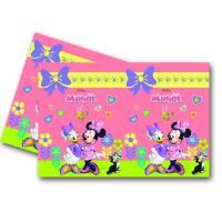 Buntes Plastik Tischtuch mit Motiven für die Minnie Mouse...