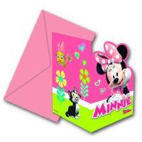 Bunte Einladungskarten mit dem Motiv von Minnie Maus für...