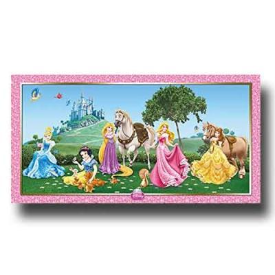 1 Hintergrundbild für den Kindergeburtstag mit Partymotto Prinzessinnen.