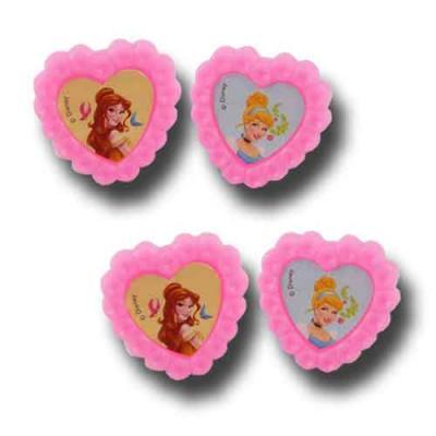 4 rosa Ringe als passende Dekoration oder Mitgebsel für den Kindergeburtstag mit Partymotto Prinzessin.