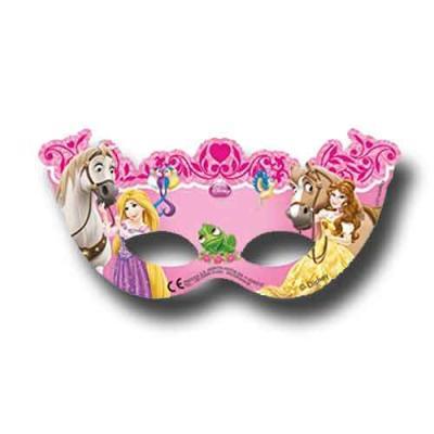 6 rosa Partymasken für den Kindergeburtstag mit Partymotto Prinzessin.