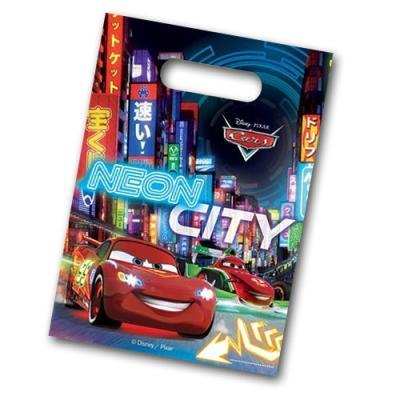 """Bunte Partytaschen für die Mitgebsel bei der Kindergeburtstag """"Cars"""" Mottoparty."""