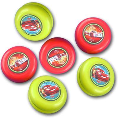 """6 Jojos mit """"Cars"""" Motiven für den Partyspaß bei der Kindergeburtstag Mottoparty."""