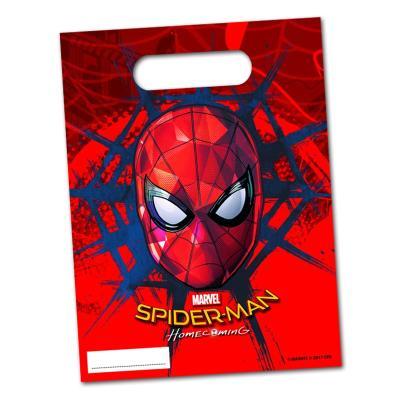 Bunte Spiderman Partytaschen für die Mitgebsel der Kindergeburtstag Mottoparty.