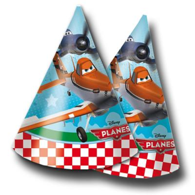 """""""Planes"""" Kindergeburtstag Partyhütchen   6 Stück"""