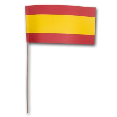 Fähnchen Spanien am Holzstab für die spanische Partydeko.