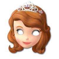 Partymasken mit dem Gesicht von Sofia die Erste für die...