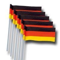 Deutschland Papier-Fähnchen am Kunststoffstab.