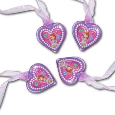 Halsketten mit Sofia die Erste Motiv, als Mitgebsel und Partygeschenk für die Kindergeburtstag Mottoparty.