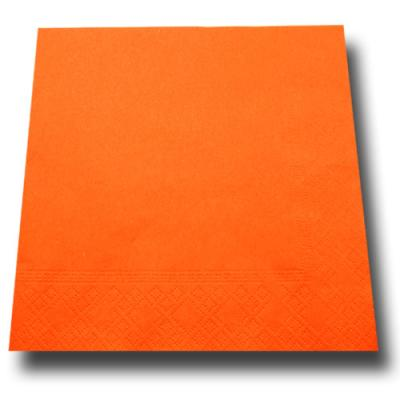 20 Stück Papierservietten orange.