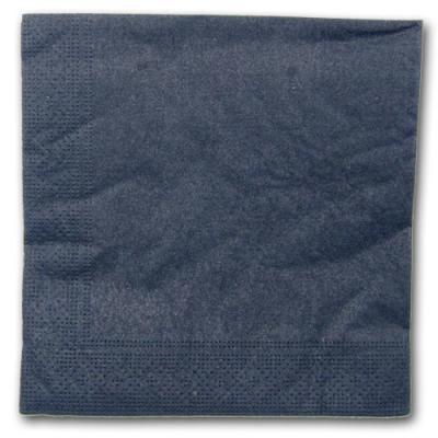 20 Papierservietten schwarz
