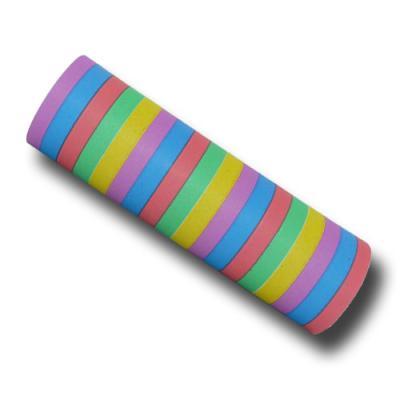 Bunte Papier Luftschlangen für eine farbenfrohe Partydeko.