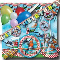 """Umfangreiches Kindergeburtstag Partyset """"Planes"""" mit..."""