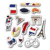 42 Stück Frankreich Dekomotive für die perfekte...