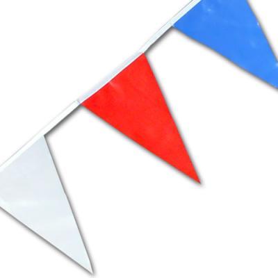 Kunststoff Wimpelkette blau-weiß-rot mit 4 Meter Länge