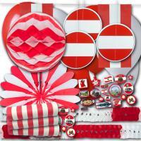Rot-weiß-rotes Österreich Partydekoset BASIC zum...