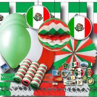 Grün-weiß-rotes Mexiko Partydekoset BASIC zum Vorteilspreis.
