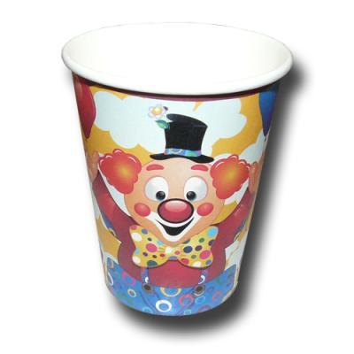 """""""Clown"""" Kindergeburtstag Pappbecher   8 Stück"""