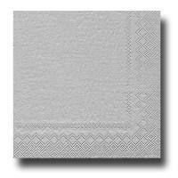 20 Papierservietten silber