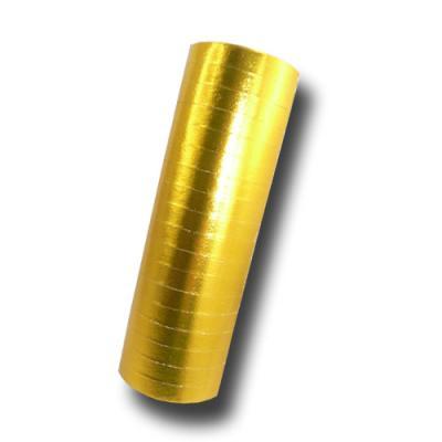 Luftschlangen gold mit Metallic Glitzereffekt