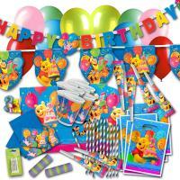 Partyset für den Kindergeburtstag Winnie Pooh mit...