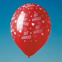 "Luftballons ""Just Married"" rot"