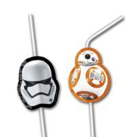 Star Wars Kindergeburtstag Trinkhalme mit Motiven für den...