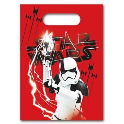 6 Partytaschen mit Star Wars Motiv für die Mitgebsel der Kindergeburtstag Mottoparty.