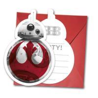 Einladungskarten inkl. Umschläge im Design von BB-8 für...