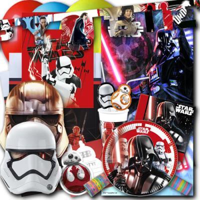 """Umfangreiches """"Star Wars"""" Kindergeburtstag Partyset XXL mit Partydeko und Partygeschirr im Sparset."""