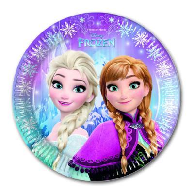 """8 Pappteller mit """"Frozen - die Eiskönigin"""" Motiv für die Kindergeburtstag Mottoparty."""