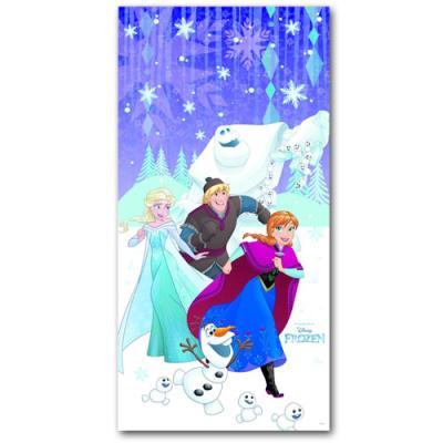 1 Türbanner mit Motiv für den Kindergeburtstag mit Frozen Partymotto.