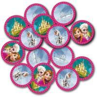 Tischdeko Riesenkonfetti mit Frozen Motiven.