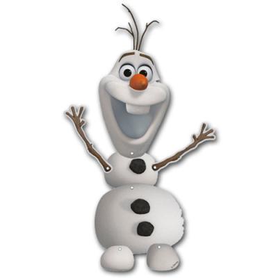 Kindergeburtstag Dekohänger mit Olaf Motiv, als Deko für die Frozen - Eiskönigin Mottoparty.