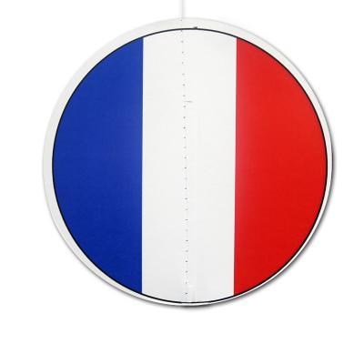 Dekohänger rund mit Frankreich Flaggen Motiv in blau-weiß-rot.