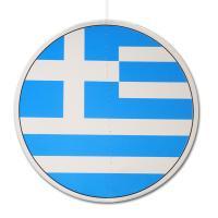 Runder Dekohänger aus Karton mit Griechenland Flagge...