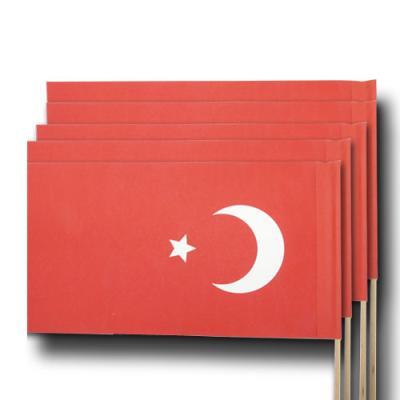 """""""Türkei"""" Qualitäts-Fähnchen am Holzstab"""