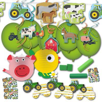 Partydekoset für den Kindergeburtstag Bauernhof mit zahlreichen Partydekorationen