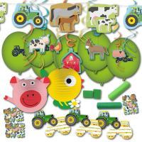 Partydekoset für den Kindergeburtstag Bauernhof mit...