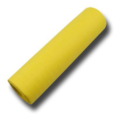 Luftschlangen gelb aus schwer entflammbarem Papier.