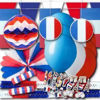 Blau-weiß-rote Frankreich Dekoset im Design der...