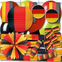 Günstiges Partydekoset in den Farben der Deutschland Flagge.