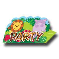 8 Einladungskarten für den Kindergeburtstag mit...