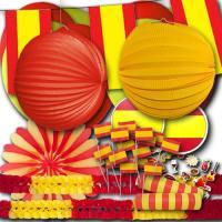 Spanien Partydeko Set Basic mit gelb-roter Flaggendeko...