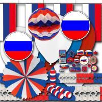 weiß-blau-rotes Russland Partydeko Set BASIC zum...